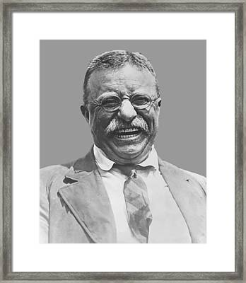 President Teddy Roosevelt Framed Print by War Is Hell Store