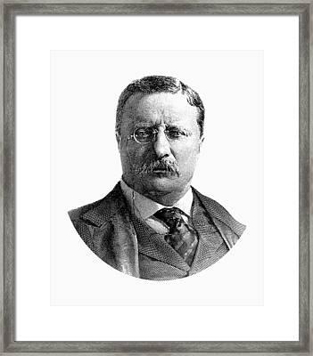 President Theodore Roosevelt Graphic Framed Print