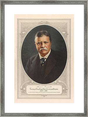 President Theodore Roosevelt - Rough Rider, Governor And President Framed Print