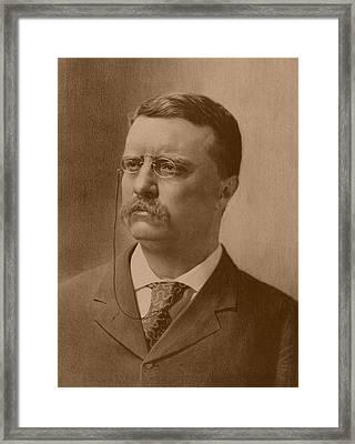 President Theodore Roosevelt - Vintage Framed Print