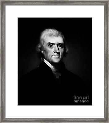 President Thomas Jefferson 004 Framed Print