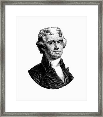 President Thomas Jefferson Graphic Framed Print