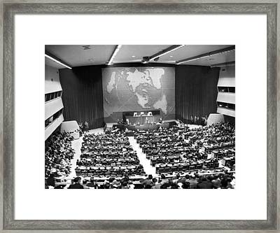 President Truman Addresses Un Framed Print