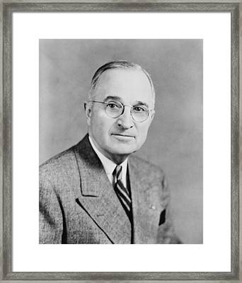 President Truman Framed Print by War Is Hell Store