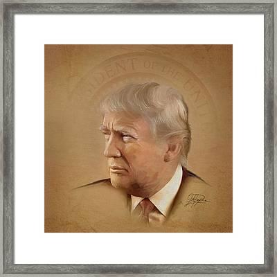President Trump Framed Print