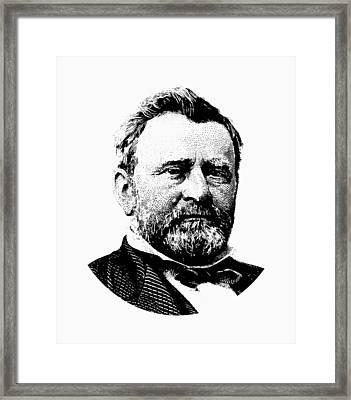 President Ulysses Grant Graphic Framed Print