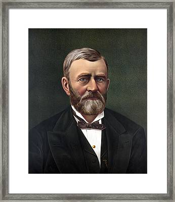 President Ulysses Grant Framed Print by War Is Hell Store