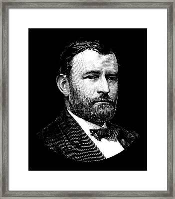 President Ulysses S. Grant Graphic Framed Print