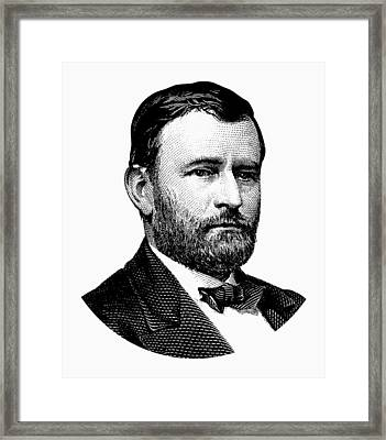 President Ulysses S. Grant Graphic White Framed Print