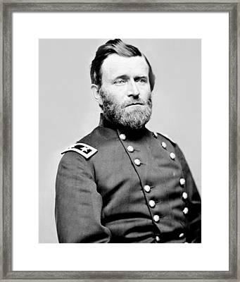 President Ulysses S Grant In Uniform Framed Print
