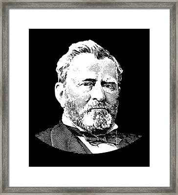 President Ulysses S. Grant Framed Print by War Is Hell Store