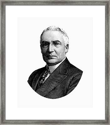 President Warren G. Harding Graphic Framed Print by War Is Hell Store