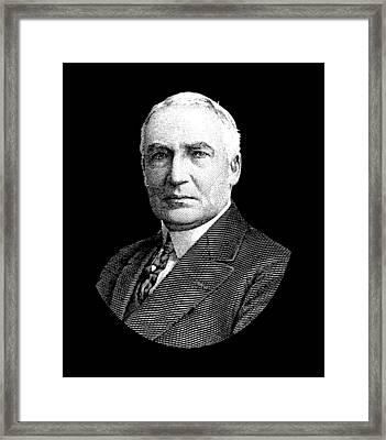 President Warren G. Harding Framed Print by War Is Hell Store