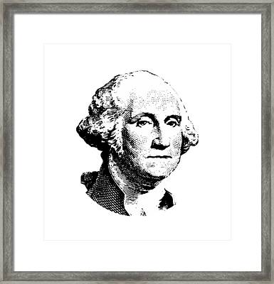 President Washington Framed Print by War Is Hell Store