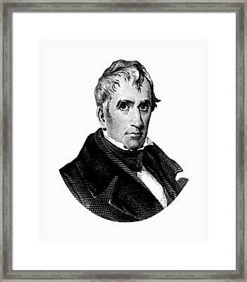 President William Henry Harrison Graphic Framed Print