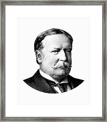 President William Howard Taft Graphic Framed Print by War Is Hell Store