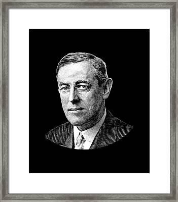 President Woodrow Wilson Graphic Framed Print by War Is Hell Store