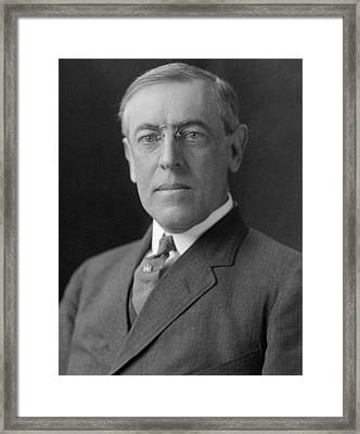 President Woodrow Wilson Framed Print by War Is Hell Store