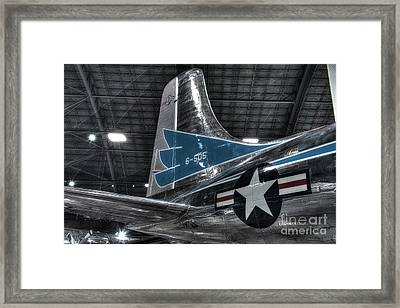 Presidential Aircraft - Douglas Vc-118 The Independence - Tail Section  Framed Print