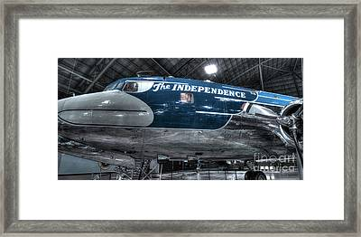 Presidential Aircraft - The Independence, Douglas Vc-118  Framed Print