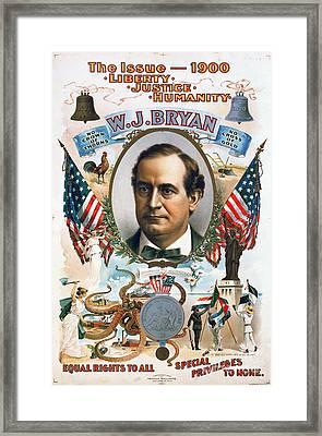 Presidential Campaign, 1900 Framed Print