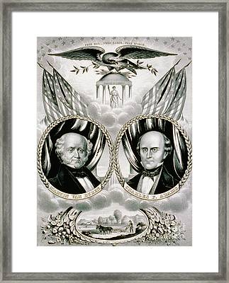 Presidential Campaign Banner, 1848 Framed Print