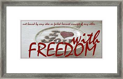 Presidential Candidate Catherine Lott Freedom From Guns And Warfare Framed Print by Catherine Lott