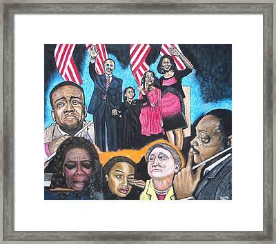 Presidential Election Night 2008 Framed Print
