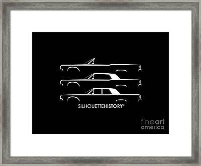 Presidential Limousine Silhouettehistory Framed Print