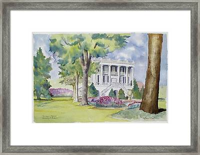 President's Mansion During Azalea Season Framed Print