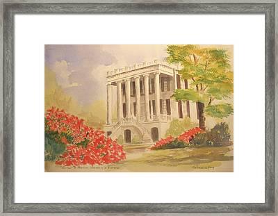 President's Mansion, University Of Alabama Framed Print by Jim Stovall