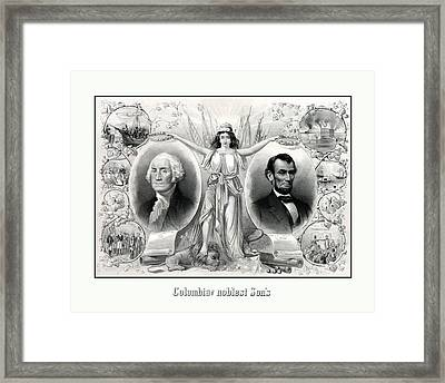 Presidents Washington And Lincoln Framed Print