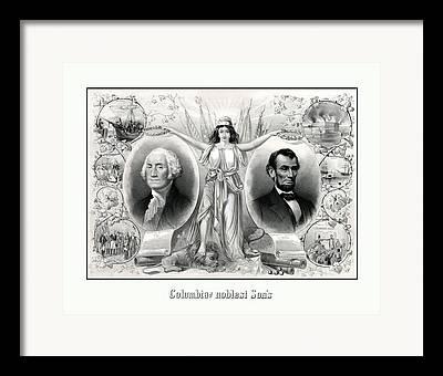 George Washington Drawings Framed Prints