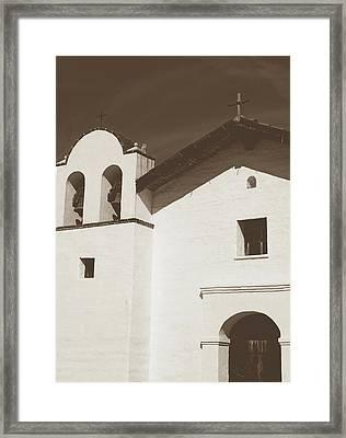 Presidio Chapel- Art By Linda Woods Framed Print
