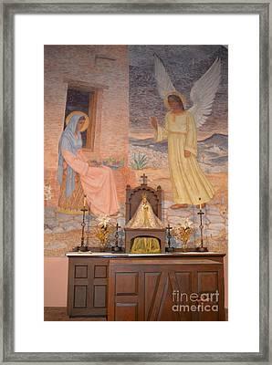 Presidio La Bahia Mission Framed Print by Donna Brown