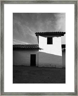 Presidio Shadows- Art By Linda Woods Framed Print
