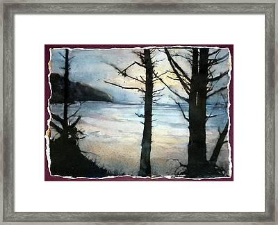 Presque Isle Dawn Framed Print