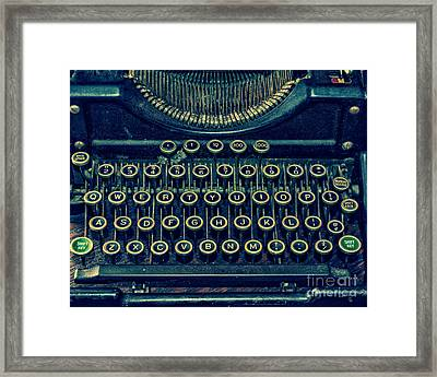 Press Any Key Framed Print by Emily Kay