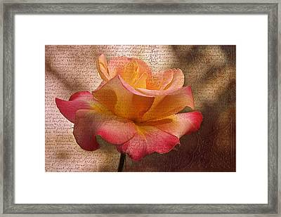 Pressed Against My Heart Framed Print by Georgiana Romanovna