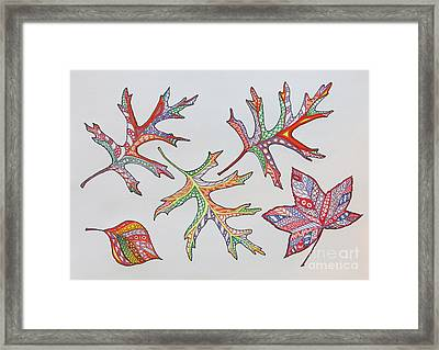 Pressed Leaves Framed Print by Aimee Mouw