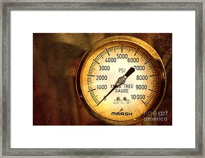 Framed Print featuring the photograph Pressure Gauge by Charuhas Images