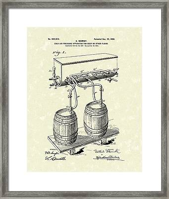 Pressure System 1900 Patent Art  Framed Print by Prior Art Design