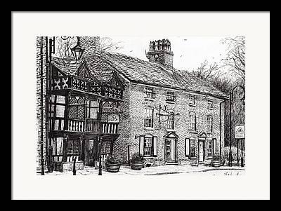 Historic Buildings Drawings Drawings Framed Prints