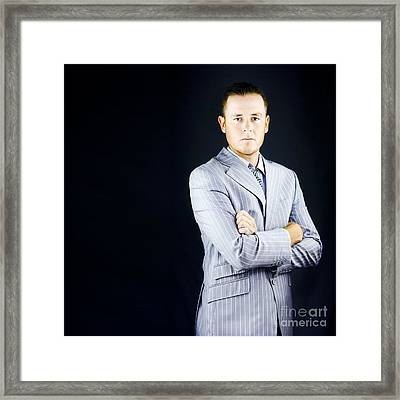 Prestigious Influential Young Business Man Framed Print by Jorgo Photography - Wall Art Gallery