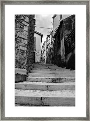 Pretoro - An Ancient Street Framed Print