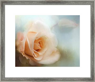 Pretty As A Peach Framed Print by Jordan Blackstone