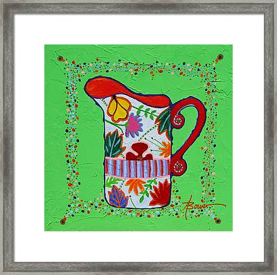 Pretty As A Pitcher Framed Print