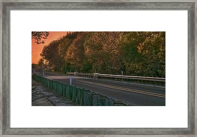 Pretty As The Road Framed Print by Philip A Swiderski Jr