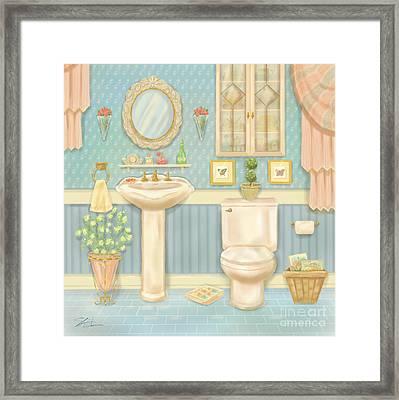 Pretty Bathrooms Iv Framed Print by Shari Warren