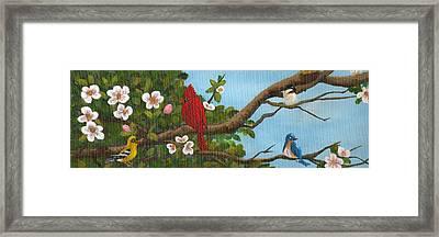Pretty Birds Framed Print